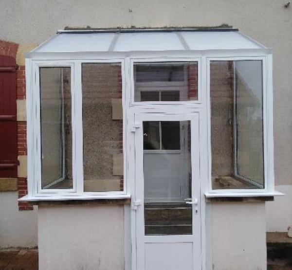 Rehabilitation d une veranda sur mesure pvc blanc sancoins